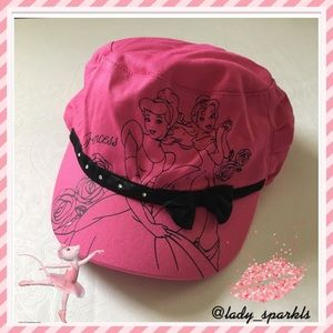 Disney Princess Cinderella &Belle Pink Hat